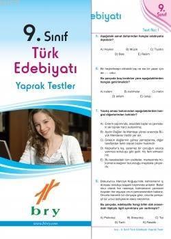 9.Sınıf Türk Edebiyatı Yaprak Test .