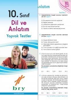 10.Sınıf Dil Ve Anlatım Yaprak Test