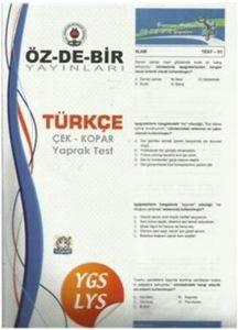 Özdebir YGS-LYS Türkçe Çek Kopar Yaprak Test