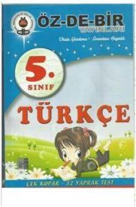 Özdebir 5 Sınıf Türkçe Çek Kopar Yaprak Test