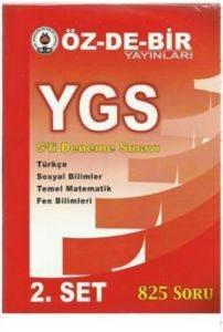 Özdebir Ygs 5 Li Deneme Sınavı 2 Set