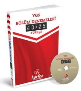 Körfez Ygs Türkçe Bölüm Denemeleri 40 X 25 Çözüm Dvd'Li