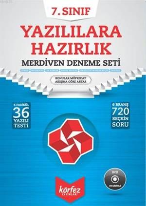 Körfez 7.Sınıf Yazılılara Hazırlık Merdiven Deneme Seti Çözüm Dvd'li