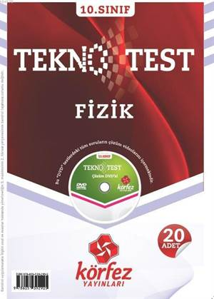 10. Sınıf Fizik Tekno Test; 20 Adet Yaprak Test - Çözüm Dvd'li
