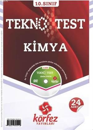 10. Sınıf Kimya Tekno Test; 24 Adet Yaprak Test - Çözüm Dvd'li
