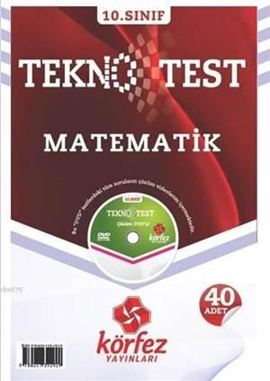 10. Sınıf Matematik Tekno Test; 40 Adet Yaprak Test - Çözüm DVD'li