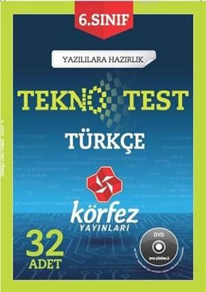 6. Sınıf Türkçe Tekno Test; 32 Adet Yaprak Test - Çözüm DVD'li