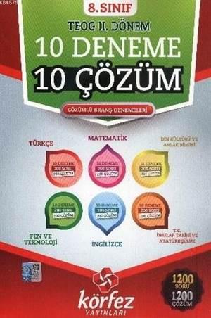 8. Sınıf TEOG 2. Dönem 10 Deneme 10 Çözüm; Branş Denemeleri