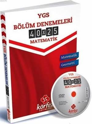 Körfez YGS Matematik Bölüm Denemeleri 40 Soru 25 Deneme Çözüm DVD' li