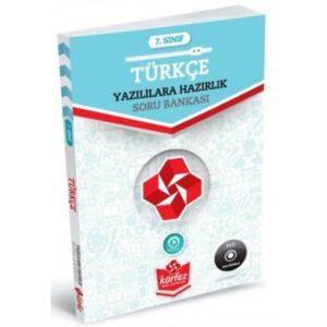 7.Sınıf Yazılıya Hazırlık Türkçe Soru Bankası Çözüm Dvd'Li (Yeni)