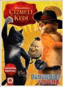 Çizmeli Kedi Çıkartma Hediyeli