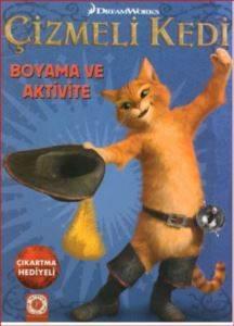 Çizmeli Kedi Boyama Ve Aktivite