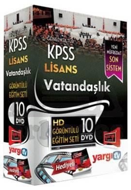 Yargı 2014 KPSS Lisans Vatandaşlık HD Görüntülü Eğitim Seti 10 DVD