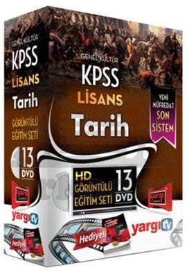 Yargı 2014 KPSS Lisans Tarih HD Görüntülü Eğitim Seti 13 DVD