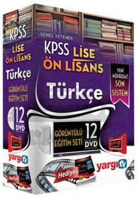Yargı 2014 KPSS Lise Önlisans Türkçe Görüntülü Eğitim Seti 12 DVD