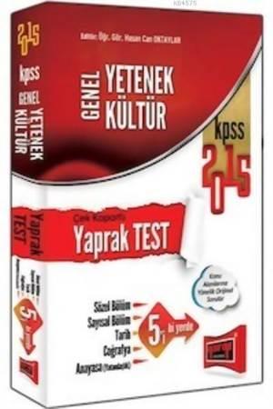 Yargı KPSS Genel Yetenek Genel Kültür Çek Kopartlı Yaprak Test 2015