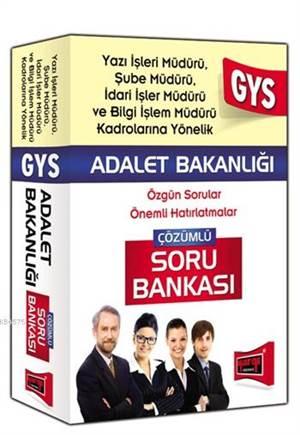 GYS Adalet Bakanlığı Yazı İşleri,Şube ve İdari İşler Müdürü İçin Çözümlü Soru Bankası 2015
