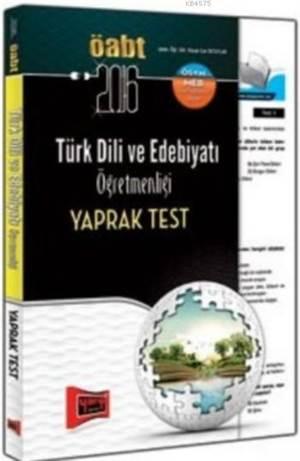 ÖABT Türk Dili Ve Edebiyatı Öğretmenliği Yaprak Test 2016