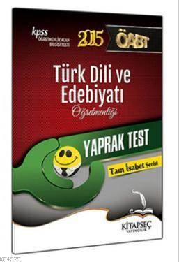 KPSS ÖABT Türk Dili Ve Edebiyatı Öğretmenliği Yaprak Test 2015
