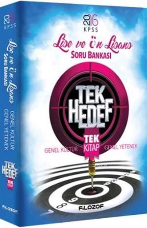 2016 KPSS Lise Ön Lisans Tek Hedef Tek Kitap Soru Bankası