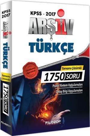 2017 KPSS Arşiv Türkçe Tamamı Çözümlü 1750 Soru Bankası