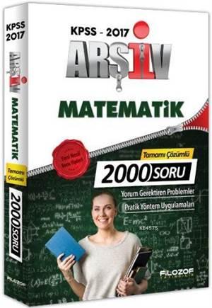 Filozof Kpss Arşiv Matematik Tamamı Çözümlü 2000 Soru Bankası
