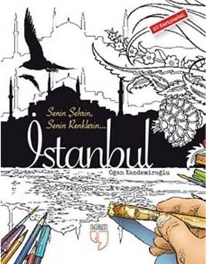 İstanbul Kartpostal Boyama; 20 Adet Kartpostal