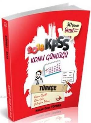2018 KPSS Konu Günlüğü Türkçe