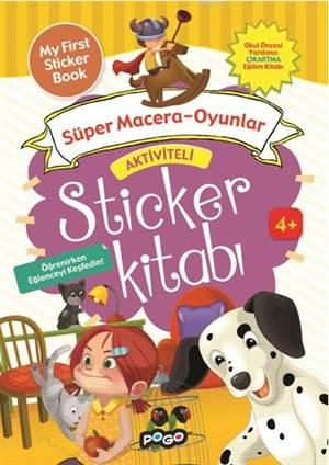Aktiviteli Sticker Kitabı - Süper Macera - Oyunlar