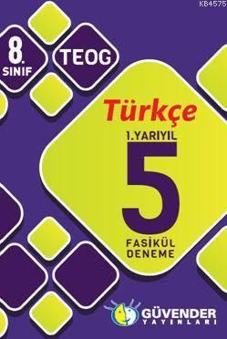 8.Sınıf Türkçe 1.Yarıyıl 5 Fasikül Deneme