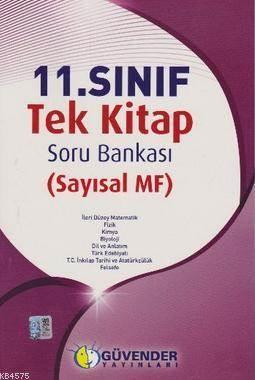 Güvender - 11.Sınıf Tek Kitap Soru Bankası (Sayısal Mf)