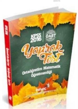 İhtiyaç Öabt Kpss Ortaöğretim Matematik Öğretmenliği Yaprak Test 2016