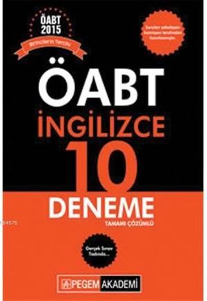 ÖABT İngilizce Öğretmenliği Tamamı Çözümlü 10 Deneme 2015
