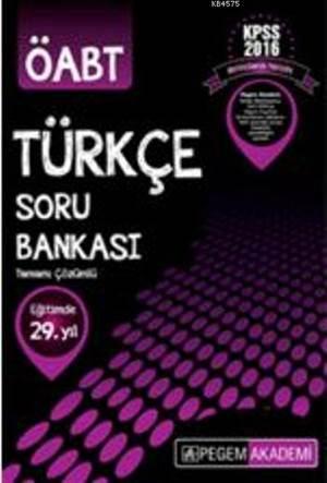 Kpss Öabt Türkçe Tamamı Çözümlü Soru Bankası 2016