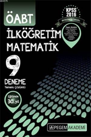 KPSS ÖABT İlköğretim Matematik Tamamı Çözümlü 9 Deneme 2016