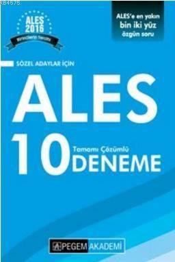 ALES Tamamı Çözümlü 10 Deneme-Sözel Adaylar İçin 2016