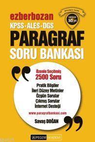 2016 Pegem KPSS ALES DGS Ezberbozan Paragraf Soru Bankası