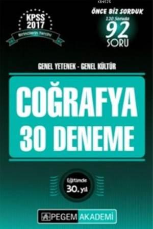KPSS Genel Yetenek Genel Kültür Coğrafya 30 Deneme 2017