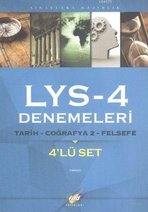 FDD LYS-4 Denemeleri Tarih-Coğrafya-2-Felsefe 4'lü Set