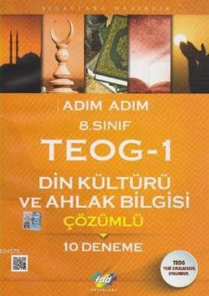 Fdd 8. Sınıf Adım Adım Teog-1 Din Kültürü Ve Ahlak Bilgisi Çözümlü 10 Deneme