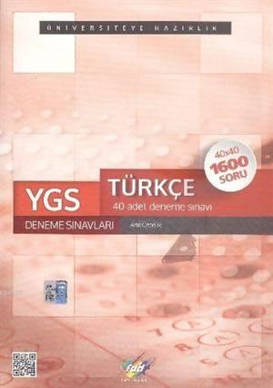 Fdd Ygs Türkçe 40 Deneme Sınavları 40X40