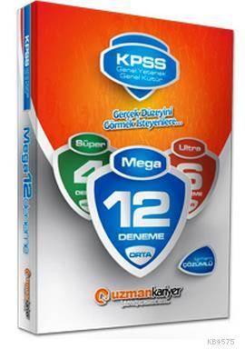 KPSS Genel Yetenek & Kültür Mega 12 Deneme Çözümlü