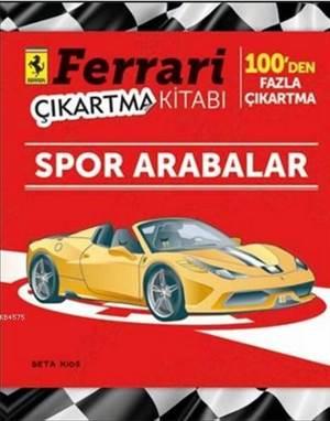 Ferrari Çıkartma Kitabı - Spor Arabalar