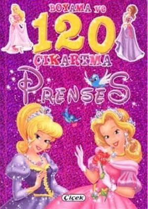 Boyama Ve 120 Çıkartma-Prensesler