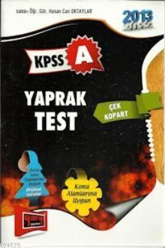 KPSS A Yaprak Test 2013