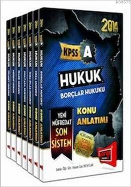 2014 KPSS A Hukuk Konu Anlatımlı Modüler Set (7 Kitap Takım)
