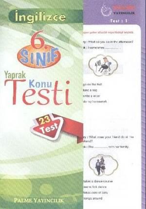 6.Sınıf İngilizce Yaprak Konu Testi