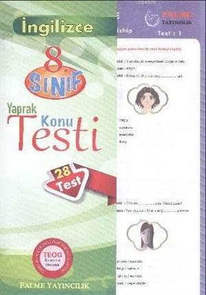 8.Sınıf İngilizce Yaprak Konu Testi
