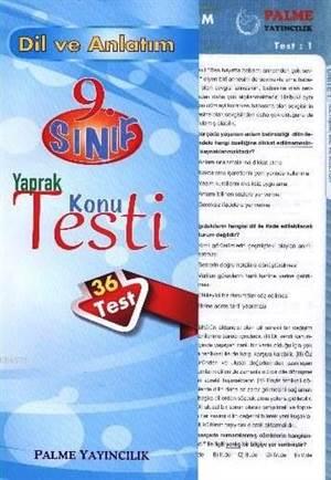 9. Sınıf Dil Ve Anlatım Yaprak Konu Testi