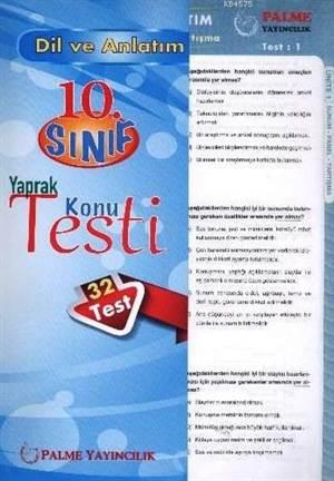 Palme Yaprak Test 10.Sınıf Dil Ve Anlatım